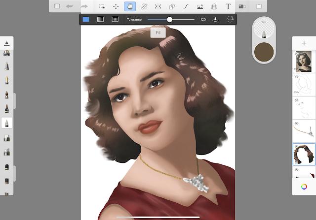 Apply with the Bucket tool in Autodesk SketchBook App