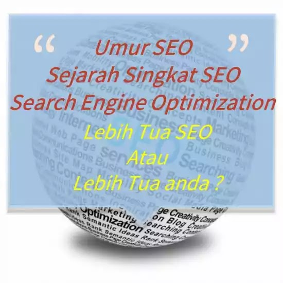 sejarah seo search engine optimization - history of seo
