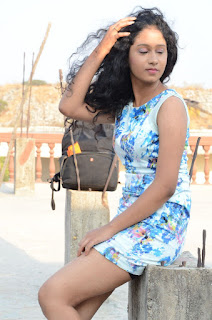 Actress Priyankha Stills in Floral Short Dress at Golmal Gullu Movie Pressmeet 0297.JPG