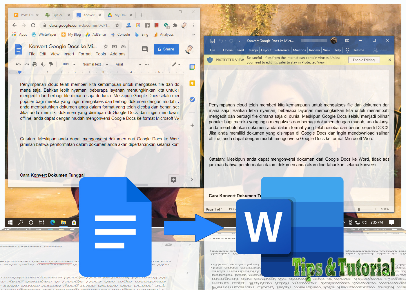 Cara Konvert Google Docs Ke Microsoft Word Tips Tutorial