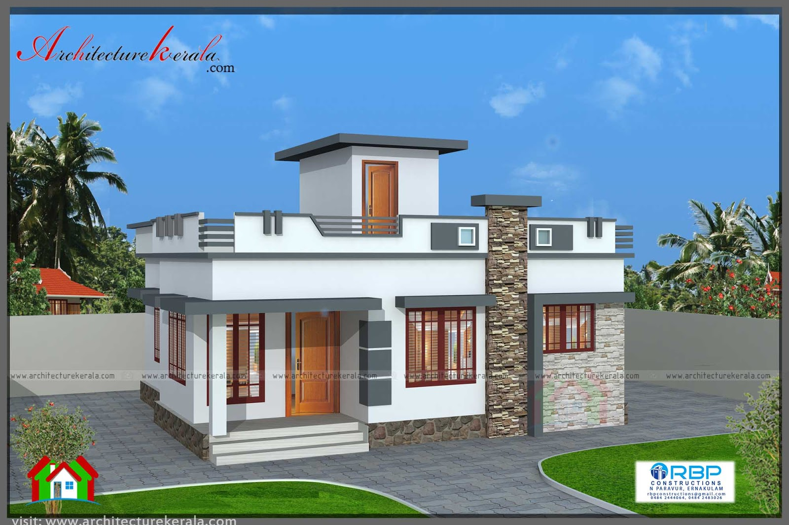 Nice Kerala Home Design 700 Sq Ft Part - 5: 700 SQFT PLAN AND ELEVATION FOR MIDDLE CLASS FAMILY