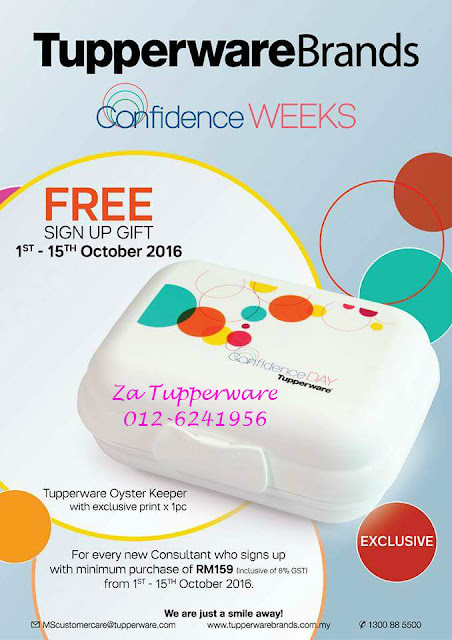 FREE SIGN UP GIFT TUPPERWARE