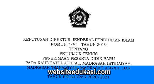 Juknis PPDB Madrasah Tahun 2020/2021