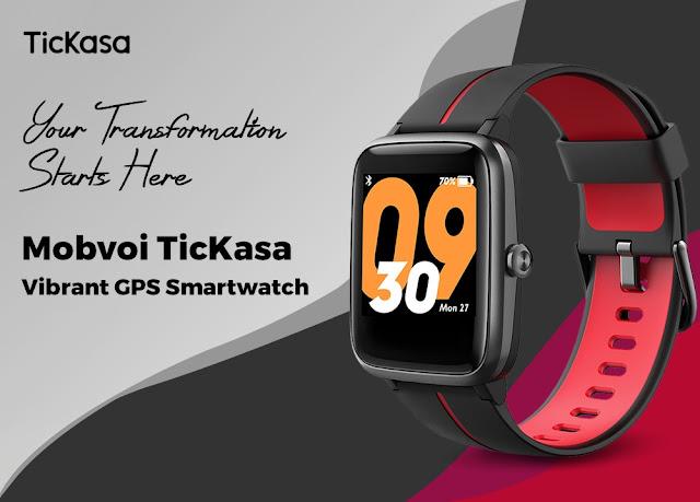Mobvoi TicKasa Vibrant Smartwatch - Barato e com GPS