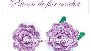 Patrón de flor crochet