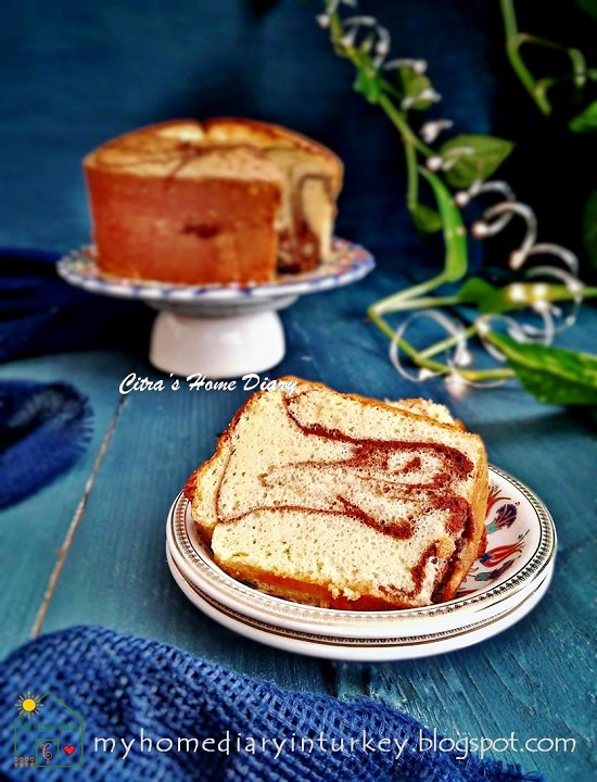 PEANUT BUTTER CHIFFON CAKE | Çitra's Home Diary. #chiffoncakerecipe #peanutbutter #peanutbuttercake #coffeecakerecipe #resepkuesifon #şifonkektarifi #marblecake