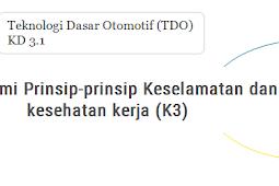 TDO : KD 3.1 Memahami prinsip-prinsip  Keselamatan dan Kesehatan Kerja (K3)