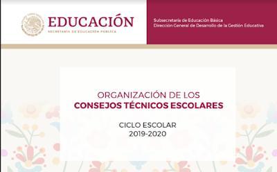 Organización de los Consejos Técnicos Escolares