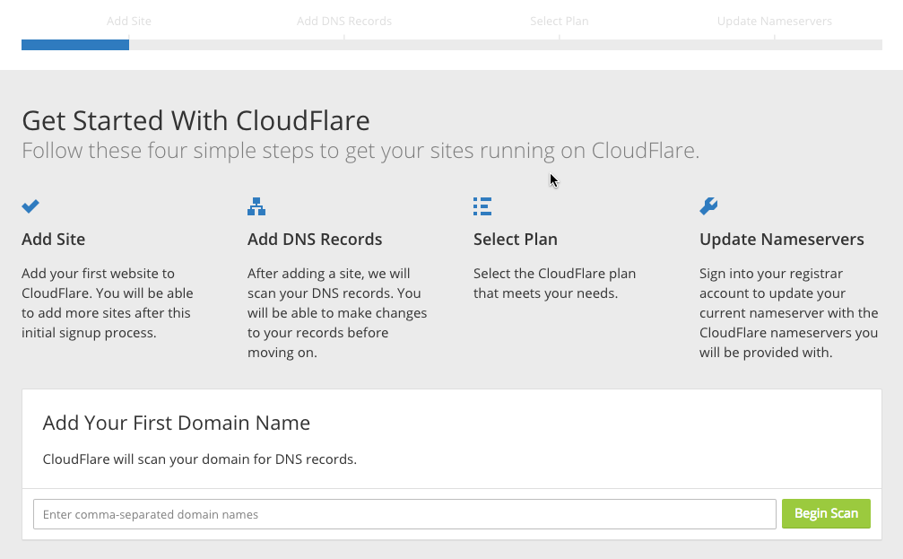 starting with cloudflare