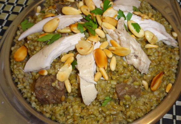 Freekeh With Chicken And Meat