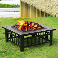 Outdoor Garden Fire pit BBQ Grill Stove Heater Patio Fire Pit Metal Table
