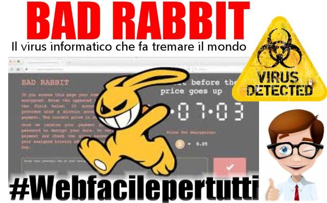Bad Rabbit | il nuovo virus informatico che fa tremare il mondo