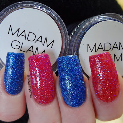 Madam Glam Holo Skydive and To the Moon & Back Swatch
