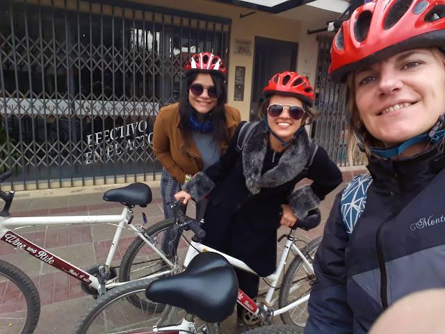 3 amigas ciclistas