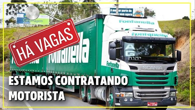 Trasportadora Fontanella abre vagas para motorista em 7 Estados