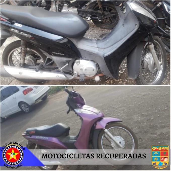 Polícia Militar recupera duas motocicletas com restrição de roubo durante Operação Cidade Segura em Caxias-MA