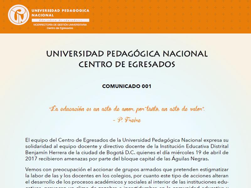 Universidad Pedagógica Nacional Centro de Egresados