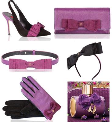 Carolina Herrera complementos mujer, zapatos de tacón, bolso, guantes, cinturón y diadema fragancia CH Eau de Parfum Sublime