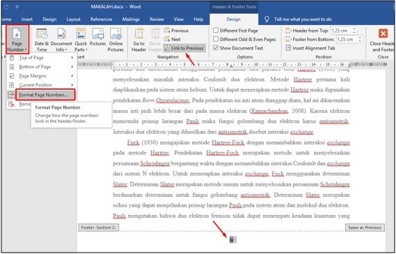 Cara Membuat Nomor Halaman Berbeda Di Microsoft Word Yang Sama