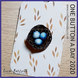 Day 250: Birds Nest - One Button a Day 2020 by Gina Barrett