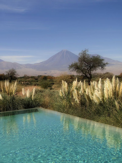Vista da Piscina do Hotel Tierra Atacama