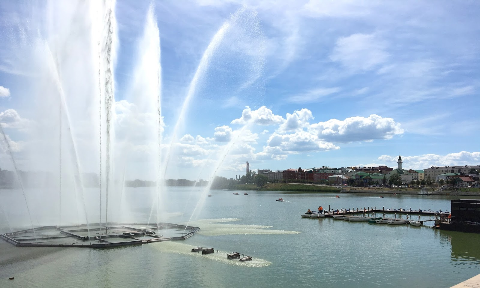Fontains and parks in Kazan Tatarstan