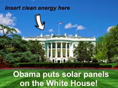 White House goes green with solar panels