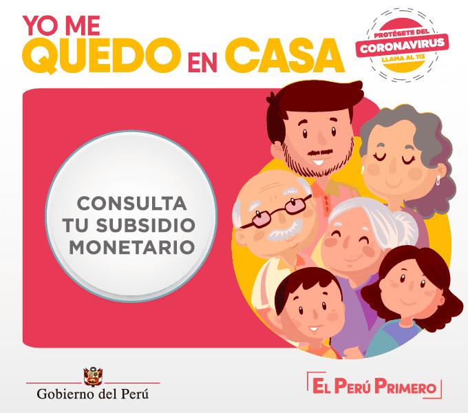 Coronavirus en Perú: Consulta aquí si tu hogar es beneficiario del bono de S/380