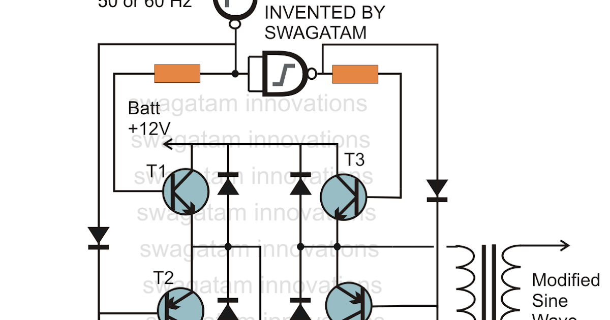 circuit for modified sine wave inverters electronic circuit projects