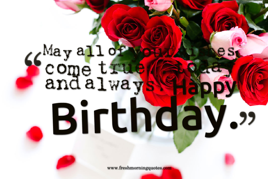 rose images with birthday wishes