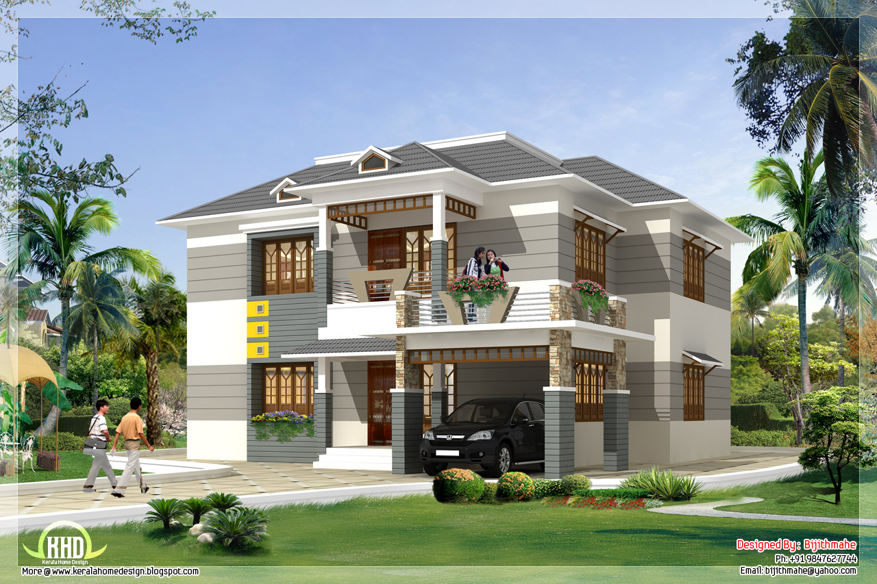 2700 kerala style home plan and elevation kerala for Kerala house plan images