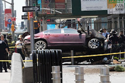 1 Times Square pedestrian killed, others hurt after car jumps curb