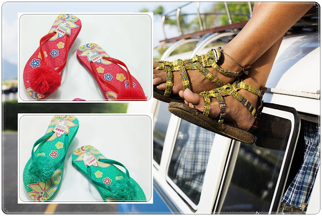 PABRIK DAN GROSIR SANDAL WANITA | Sandal Bunga Pompom Terbaru
