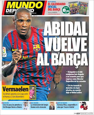Portada Mundo Deportivo: Abidal