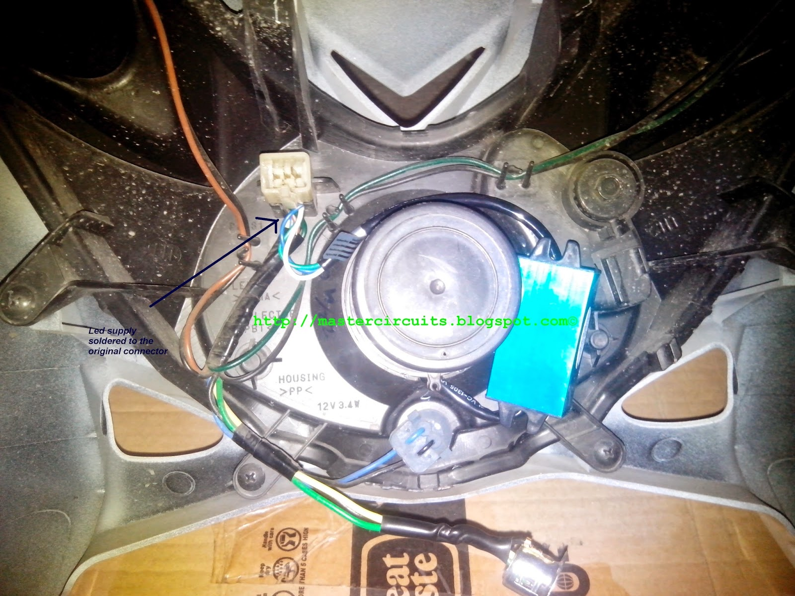 Yamaha Mio Soul Wiring Diagram Visio Call Flow Led Headlight Conversion Techy At Day