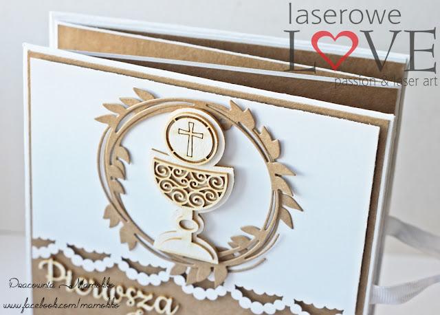 tekturki komunijne Laserowe LOVE album Milena