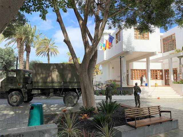 Fuerteventura Pajara Regimiento%2BSoria%2B9%2B%25282%2529 - Fuerteventura.-  Pájara agradece las labores de limpieza y desinfección del Regimiento Soria 9