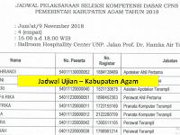 Jadwal dan Nama Peserta UJIAN CAT CPNS 2018 - Kabupaten Agam, Download Disini !!!