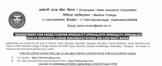 ESIC Sanathnagar Teaching & Non-Teaching Recruitment 2019