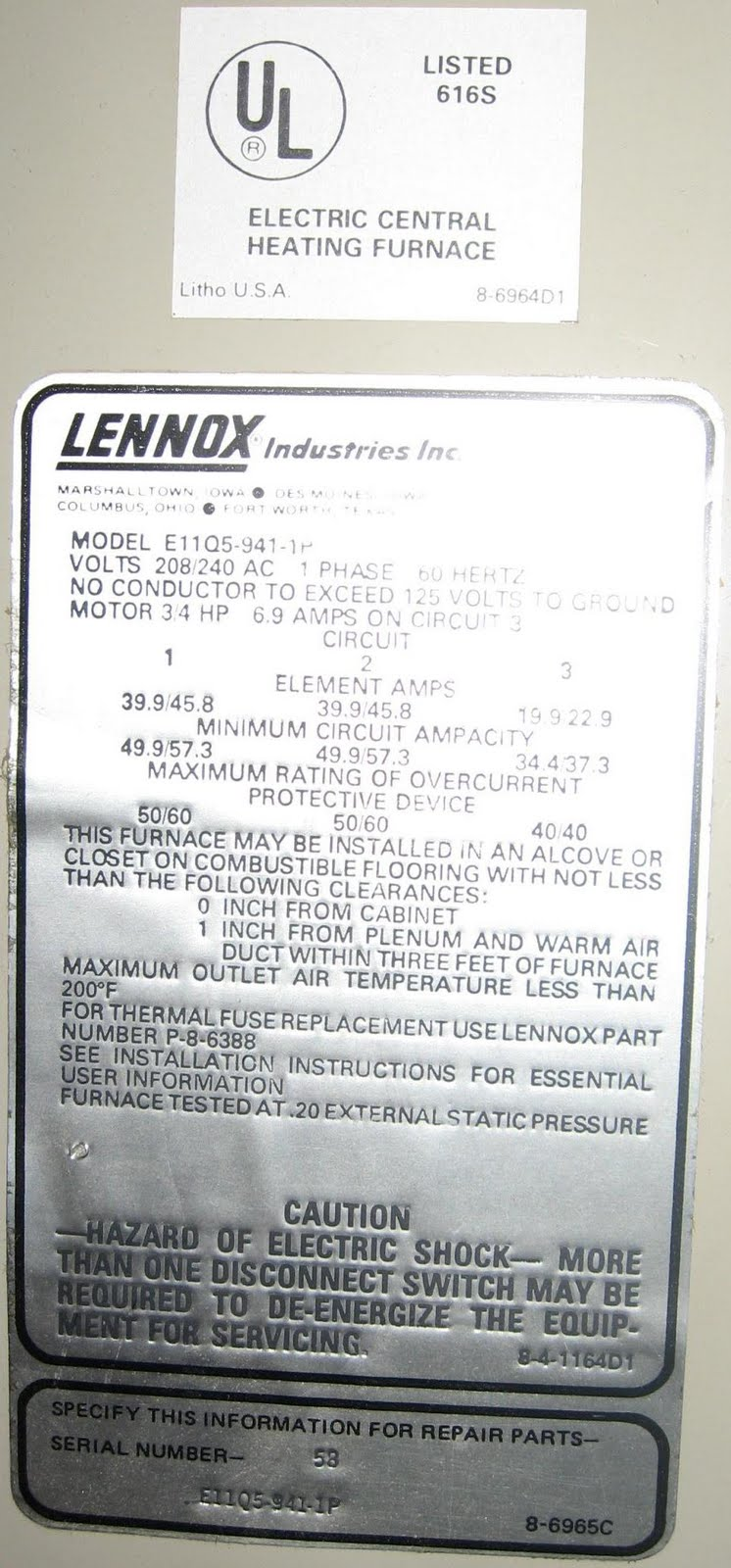 Lennox Gcs16 060 Manual