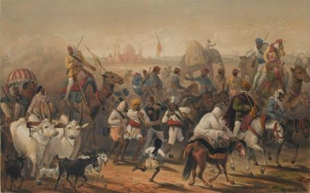 Indian Sepoys fighting in the EIC army