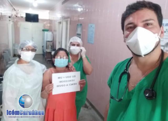 Caraubense 47 anos vence Covid-19 e recebe alta médica no hospital de Caraúbas