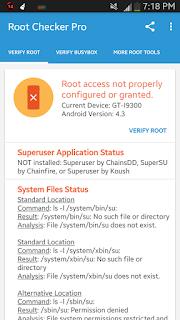Contoh Root tidak Berhasil