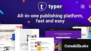 Download free Typer WordPress theme v1.9.1