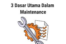 3 Dasar Utama Dalam Perawatan atau Maintenance - DUNIA PEMBANGKIT LISTRIK