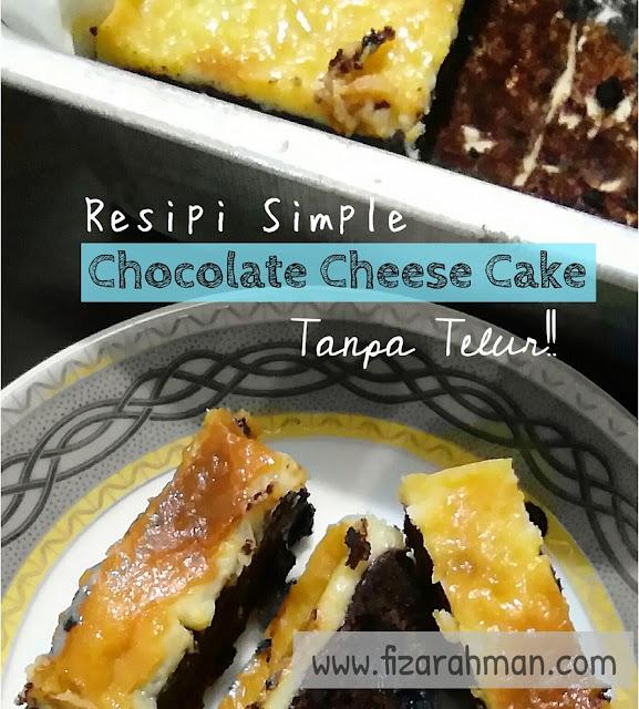 Chocolate Cheesecake Tanpa Telur