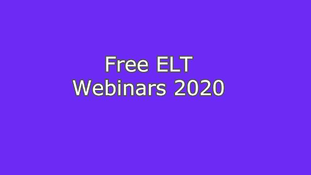 Free ELT Webinars 2020