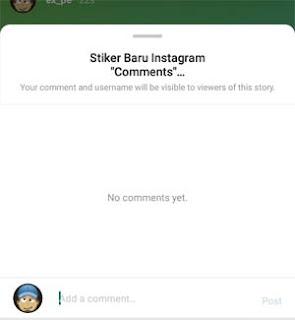 Cara Menggunakan Stiker Baru Instagram 'Comments'