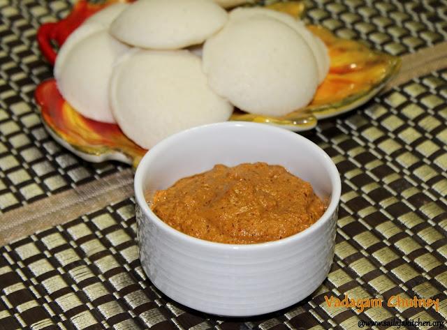 images of Vadagam Chutney Recipe / Thalippu Vadagam Chutney- Easy Chutney Recipe