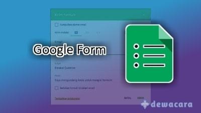 Cara membuat google form dan melihat hasilnya